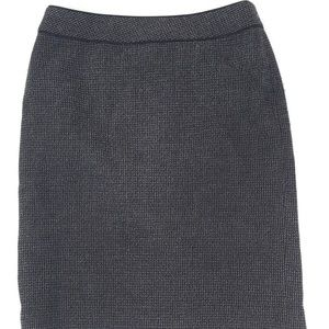 Ann Taylor Gray White Wool Skirt Size 6
